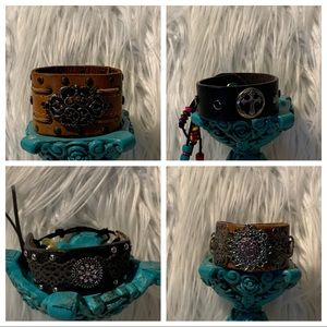 Jewelry - Leather Cuff Bracelets